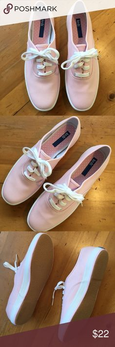 Pink Keds Sneakers Excellent condition never worn pink and white polka dots inside size 9 very cute love these Keds Shoes Sneakers