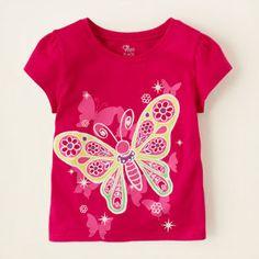butterflies graphic tee