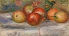 """Summarization of the product What if you started becoming a collector of 20th century European fine arts? Start your own art collection . """"Apples, Orange, and Lemon (apples, oranges and lemons)"""" is a artwork, which was created by the artist Pierre-Auguste Renoir in 1911.   The product          Product type: fine art print   Reproduction method: digital reproduction   Manufacturing method: digital printing   Production: German production   Type of stock: production on demand   Product usage: wal Oranges And Lemons, Pierre Auguste Renoir, August Renoir, Renoir Paintings, Barnes Foundation, Green Vase, Art Institute Of Chicago, Modern Artists, Art"""