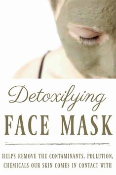 Your skin comes in contact with many contaminants, pollution, chemicals and we need to help our bodies recover. One great way to help your body detox is with this detoxifying face mask. #facemask #detox #detoxifying #naturalskincare #bentonite #greenbeauty #EpsomSaltCleanse Face Peel Mask, Acne Face Mask, Face Skin, Natural Face, Natural Skin Care, Natural Beauty, Charcoal Face Mask, Face Mapping, How To Get Rid Of Acne