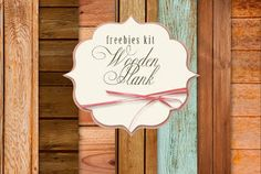 New Freebies Kit of Backgrounds - Wooden Plank