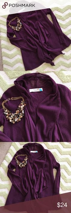  Anthropologie Sparrow Merino Sweater Plum Smoke-free, pet-free home. Necklace not included. Anthropologie Sweaters Cardigans