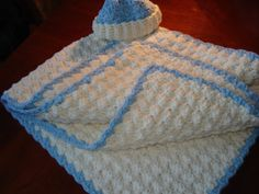 Handmade+crochet+Baby+Tummy+Time+Blanket+with+a+Free+by+SueStitch,+$39.95