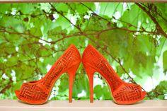 orange wedding shoes, jennifer boyle