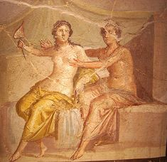 """""""Ares and Aphrodite"""" - from the House of Meleager at Pompe… 