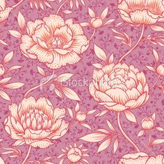 Peony pattern Royalty Free Stock Vector Art Illustration