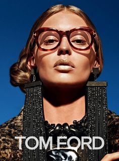 Lucky Blue Smith and Ondria Hardin front the Tom Ford Fall/Winter 2015 ready-to-wear and eyewear campaigns photographed by Mario Sorrenti. Mario Sorrenti, Fashion Advertising, Advertising Campaign, Gigi Hadid, Balmain, Tom Ford Eyewear, Gisele Bündchen, Lucky Blue Smith, Lara Stone