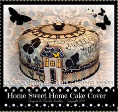 Home Sweet Home Cake Cover Pattern - Martha Smalley - PDF DOWNLOAD