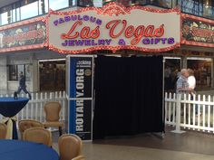 ShutterBooth with customized Shutterskinz for the Rotary Club's block party on Freemont Street in Las Vegas.
