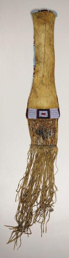 Lakota pipebag, back view