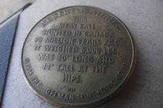 Albertosaurus Hoffman Mint Dino Coin 1994 1996 Dinosaurs Canada Exonumia Token S