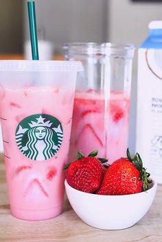 Starbucks Pink Drink Recipe, Pink Drink Recipes, Starbucks Vanilla, Pink Starbucks, Starbucks Recipes, Pink Drinks, Starbucks Drinks, Starbucks Coffee, Summer Drinks