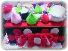 Tissue Box. Sushi. Felt. Handmade.