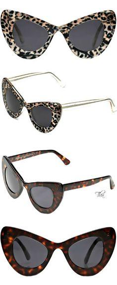 Illesteva for Zac Posen Cat Eye Sunglasses Cool Glasses, Ray Ban Glasses, Cat Eye Glasses, Aviator Glasses, Only Fashion, Teen Fashion, Fashion Shoes, Fashion Accessories, Fashion Trends