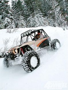 Rock buggy in the snow