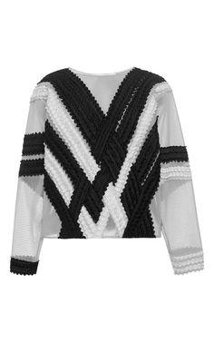 Tire Lace Sweatshirt by Jonathan Simkhai for Preorder on Moda Operandi