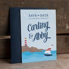 Nautical Save the Date  The Shore  save the date by starboardpress, $3.70