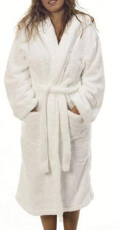 985818f80c Skin Friendly Soft Touch White Cotton Women Bathrobe. OOPSOO.COM · Custom  Bathrobes