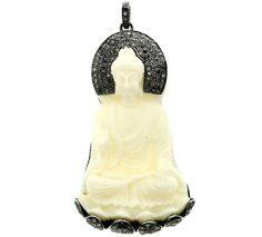 Buddha Shape Diamond Pendant Buddha Charm door LuxuryJewelryFinding