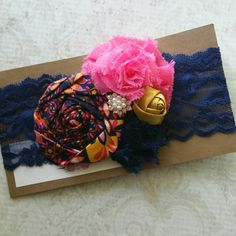 Use code SUMMER50 for 50% OFF your $20 purchase!! Hey, I found this really awesome Etsy listing at https://www.etsy.com/listing/198277126/deluxe-bloom-band-in-navy-filigree
