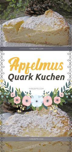 Apfelmus Quark Kuchen - 1k Rezepte