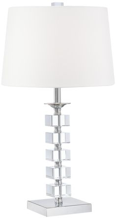 Stacked Cubes Crystal Table Lamp -  On sale at Lampsplus for $80