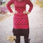 Polka Dot Sweater Dress
