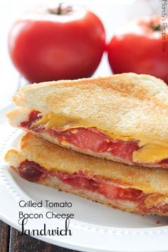 Grilled Bacon Tomato Cheese Sandwich thin bread. cheese, cooked bacon, tomato, butter