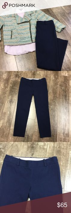 """Navy Dress Pants Stretch fit. Side zipper. Waist 14.5"""" laying flat. Inseam 24."""" No trades. Save 10% by bundling 2 or more regular priced items. J. Crew Pants Straight Leg"""