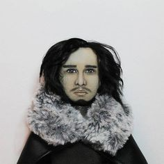 Jon Snow doll Game of Thrones personalized doll Portrait