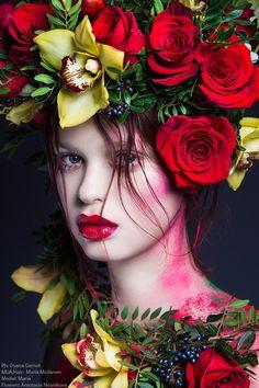 Ph: Oxana Gernet MUA,Hair: Maria Moilanen Model: Maria Flowers: Anastasia Nosnikova https://new.vk.com/wall-40686249_26279?z=photo-40686249_350688854%2Fwall-40686249_26279