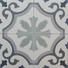 A charming design, this is a grey variation of our popular Ambrosia pattern. Typically used for floors, this versatile design can also be used for walls as well. Please contact us about our bespoke service if you would like to see this design in other colours. #BespokeTiles #Floral-pattern #GreyTiles #PatternedTiles