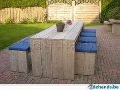steigerhout picknicktafels gratis levering