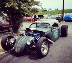 pics of rat rod trucks Vw Rat Rod, Rat Rod Cars, Vw Cars, Volkswagen, Buggy, Kustom Kulture, Vw Beetles, Beetle Bug, Street Rods