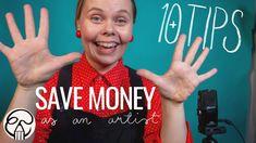 Money Saving Tips for Artists - 10 Tips How to Save Money - YouTube Money Saving Tips, Artists, Videos, Illustration, Youtube, Illustrations, Youtubers, Artist, Saving Tips