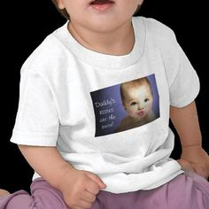 Daddy's Kisses are the Best Infant T-shirt from www.zazzlee.com/americanbannedtshirt