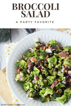 This Easy Broccoli Salad is perfect for parties or get-togethers as a sure hit!