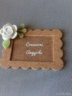 Un'idea un po' shabby Easy Felt Crafts, Diy Crafts For Gifts, Decor Crafts, Fun Crafts, Crafts For Kids, Paper Crafts, Frame Crafts, Diy Frame, Diy Gifts For Boyfriend