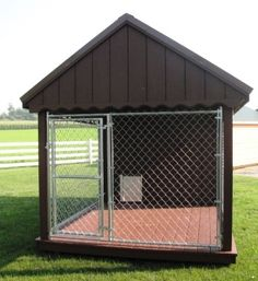 Pen for Abe My Amish Goods 4x8 Dog Kennel $1895.00 (Dog Kennel Chicken Houses)  sc 1 st  Pinterest & Large Dog House Fence Pet Outdoor Exercise 10 X 10 Kennel Canopy ...