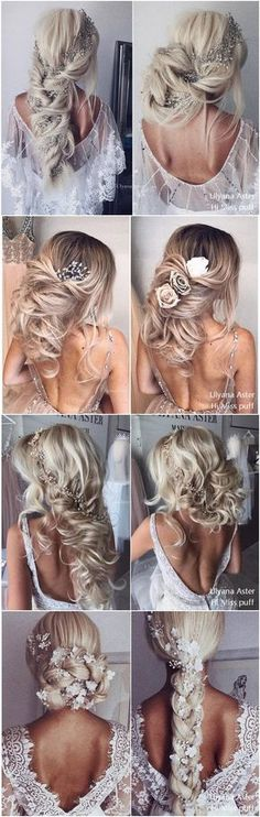 Ulyana Aster Bridal Wedding Hairstyles for Long Hair