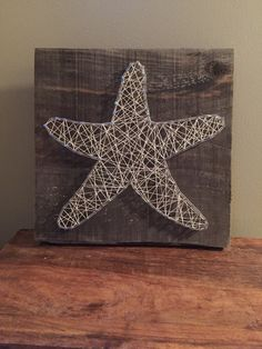 Starfish String Art Beach Signs Coast by CrookedTreeTraders