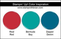 Stampin' Up! Color Inspiration: Real Red, Bermuda Bay, Dapper Denim