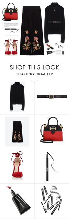 """..."" by yexyka ❤ liked on Polyvore featuring Maison Margiela, Prada, Gianvito Rossi, Kat Von D, Chanel, Bobbi Brown Cosmetics and Gucci"