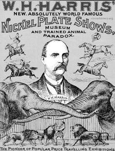 W.H.Harris Circus poster