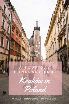 A four day itinerary for Kraków in Poland including lots of tips to get the most out of your trip! Kraków is a beautiful old and classically European city a perfect location for a long weekend. hotel restaurant travel tips Europe Travel Guide, Travel Guides, Cool Places To Visit, Places To Travel, Time Travel, Poland Travel, Italy Travel, Krakow Poland, Travel Goals