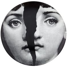 Fornasetti Plate (€115) ❤ liked on Polyvore featuring home, kitchen & dining, dinnerware, white, porcelain dinnerware, black and white dinnerware, white plates, fornasetti and white porcelain plates