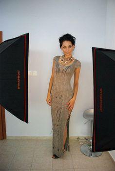 Elegant knitted dress by steficrochetideas on Etsy
