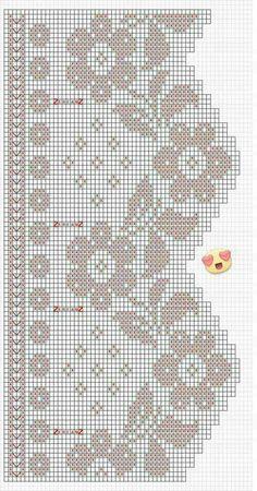 Häkeln / crochet / crocheté_Gardinen und Bordüren Curtain flowers Other types of Stair lifts By Flem Filet Crochet, Art Au Crochet, Diy Crafts Crochet, Crochet Motifs, Crochet Borders, Crochet Chart, Crochet Home, Crochet Doilies, Crochet Flowers
