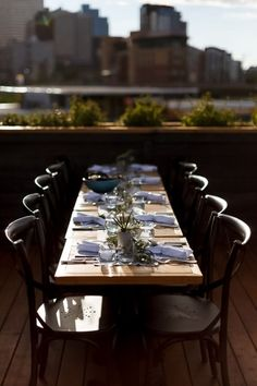 This whole wedding was designed and styled by the amazing Kismet & Cloverand I must say, not one detail was missed. The ceremony and reception both took place at the stylish restaurant, Charbar. Wait until you see the food at the reception, your mouth will be drooling! Outdoor Tables, Outdoor Decor, Beautiful Table Settings, Modern Industrial, Plan Your Wedding, Place Settings, Tablescapes, Wedding Styles, Reception