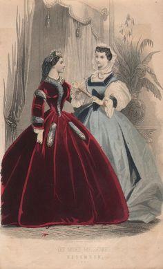 shewhoworshipscarlin: Fashion plate, 1863.